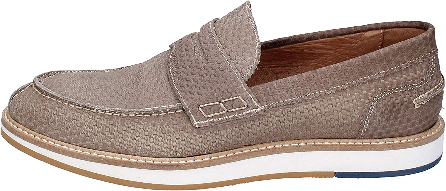+2 Made in  Loafers-shoes Mens Nubuck Beige