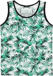 Men's Floral Tank Tops All Over Print Sleeveless Shirt Hawaiian Aloha Shirts Beach Holiday