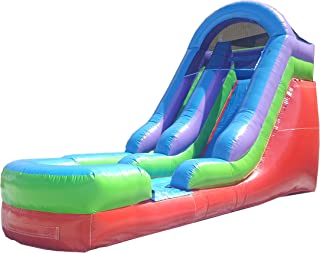 15-Foot Retro Inflatable Water Slide, Wet or Dry, Commercial Grade, 1.5 HP Blower and Stakes Included
