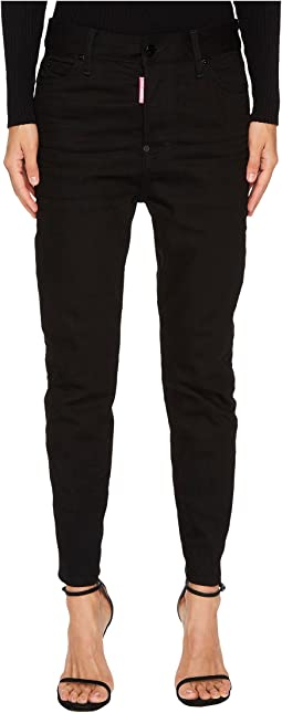 DSQUARED2 - Londean Dark Wash Jeans in Black