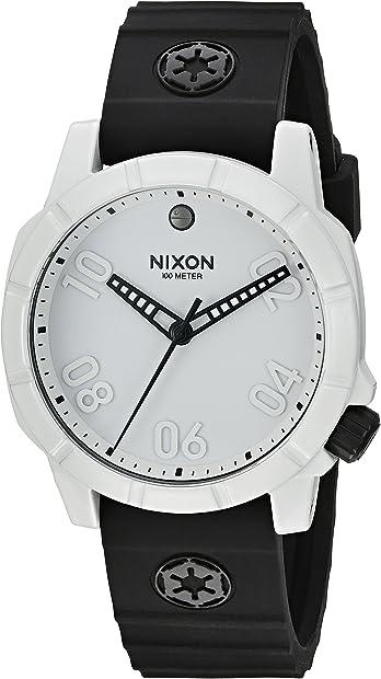 orologio nixon star wars imperial soldier a468sw2243 quarzo bianco in gomma uomo man a468sw-2243
