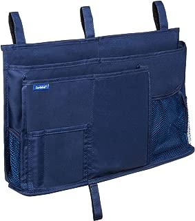 Surblue Caddy Hanging Organizer Bedside Storage Bag for Bunk and Hospital Beds, Dorm Rooms Bed Rails(8 Pockets),Blue