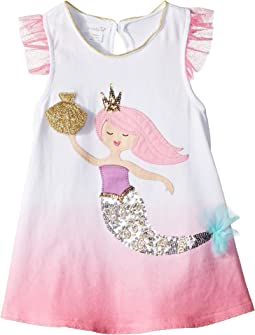 Mud Pie Mermaid Flutter Sleeve Tunic (Infant/Toddler)