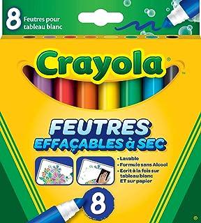 Crayola - 8 Feutres à colorier effaçables (pointe large) - boîte française - Loisir créatif - feutres et accessoires fanta...