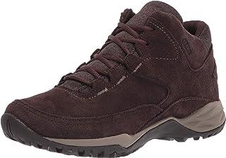 حذاء مشي حريمي Addison متوسط من الجلد مقاوم للماء Q2 من Merrell، بني داكن، 9