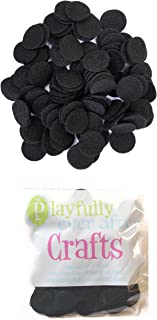 Playfully Ever After 1 Inch Black 100pc Felt Circle Stickers