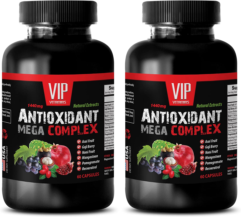 antioxidant Energy Fees free!! Supplement - MEGA Complex 1440MG ANTIOXIDANT Max 85% OFF