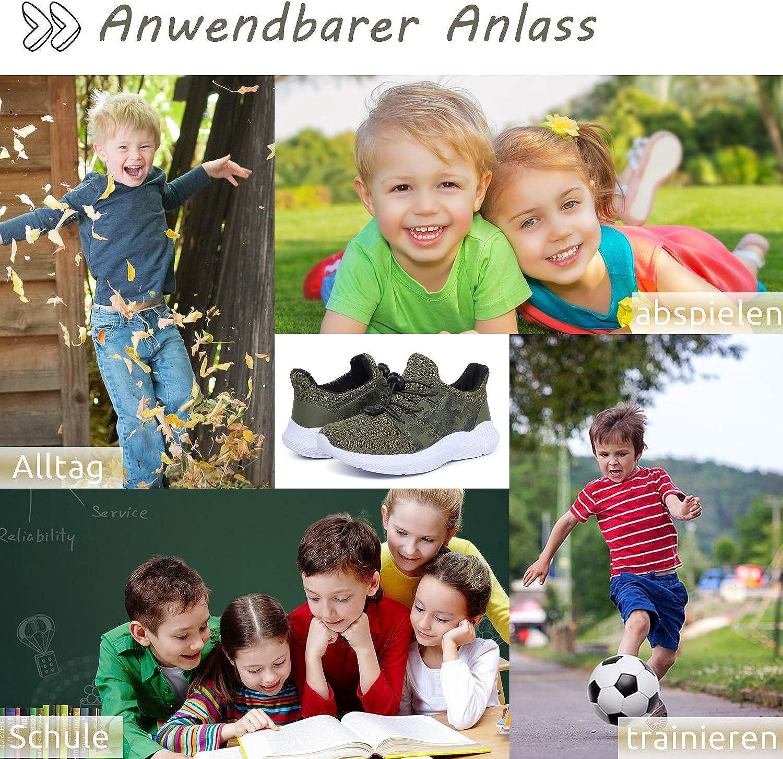 Baskets Mode Enfant Garcon Chaussure de Course Fille Chaussures de Sport L/ég/ère Running Sneakers Respirant Competition Entrainement