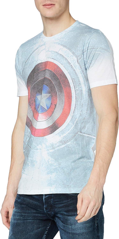 Rockoff Trade Captain America Civil War Shield Sublimation Camiseta para Hombre
