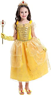 VGOFUN Princess Costume Dress Girls Dress up Costume Role Play Dress for Little Girls Ages 3-6