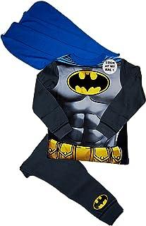 Marvel - Pijama desmontable para disfraz de Batman (2-3, 3-4, 5-6, 7-8 años)