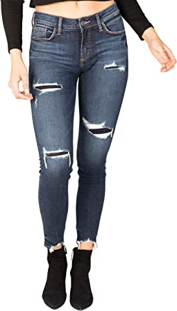 Elyse Mid-Rise Curvy Fit Skinny Jeans L03116EGX410