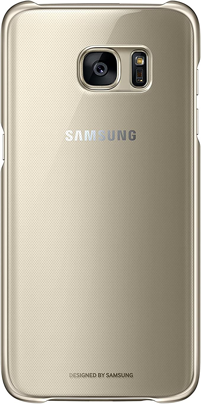 Samsung Galaxy S7 edge Coque clair de protection Noir, 0, Clear/Gold