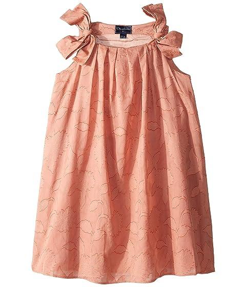 Oscar de la Renta Childrenswear Blush Cotton Day Dress (Little Kids/Big Kids)