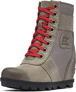 SOREL - Women's Lexie Wedge Waterproof Lace-Up Ankle Boot