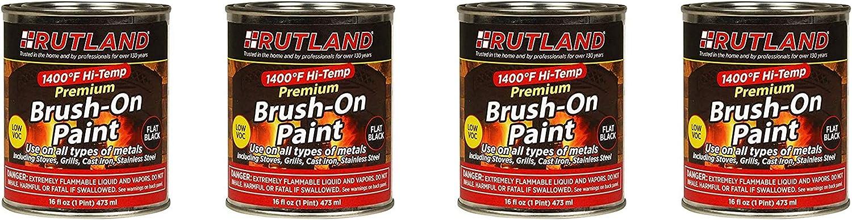 Rutland Premium Luxury goods 1400 El Paso Mall degree F Hi-Temp 16 Paint Brush-On fl oz