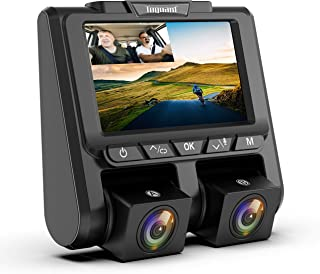 """TOGUARD Uber Dual Dash Cam Full HD 1080P+1080P Inside and Outside Car Camera Dash Cams 3"""" LCD 340° Dashboard Camera with S..."""
