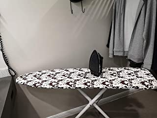 J&J home fashion Moderate Use Yellow Flower Ironing Board Cover 1/4 inch Thickness pad