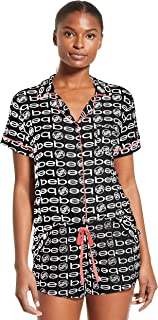 Womens Pajama Set Button Down Shirt and Shorts Sleepwear PJ Sets