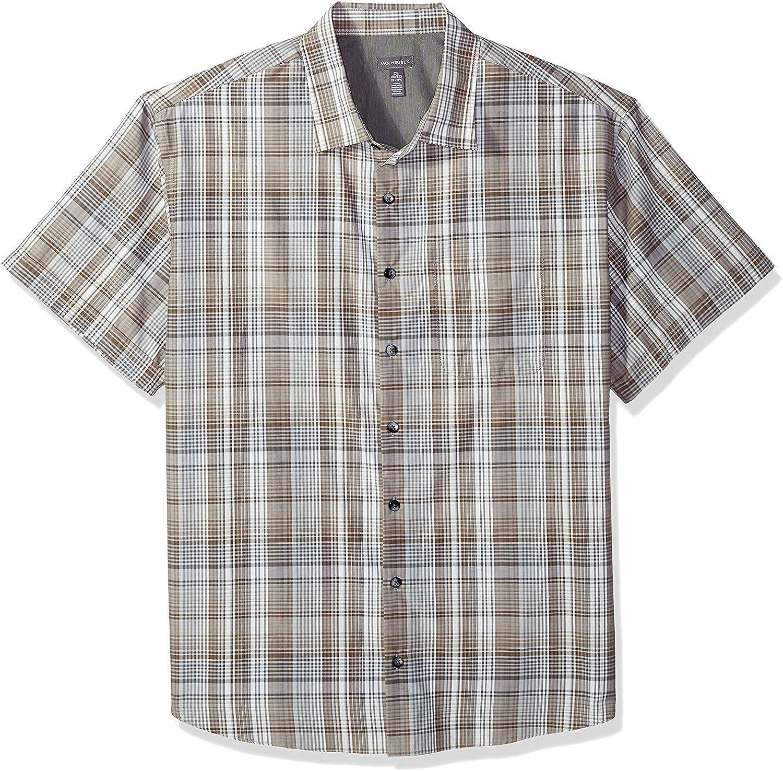 Van Heusen Men's Big and Tall Air Short Sleeve Yarndye Shirt