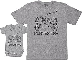 5a89d65ac Player One   Player Two - Ensemble Père Bébé Cadeau - Hommes T-Shirt