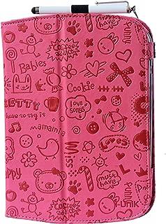 i-UniK Leapfrog Epic & Leapfrog Epic Academy Edition Case Custom Folio Kickstand Hand Strap Tablet case for Leapfrog Epic Tablet Bonus Stylus (Cute Pink)