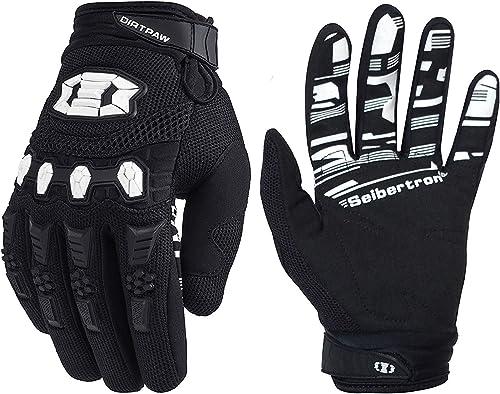 White Blue X-LARGE gloves cycling mountain bike mtb moto bmx MORPH Racing