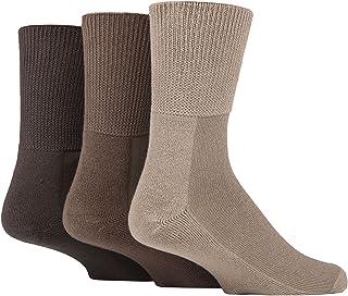 SOCKSHOP Iomi Footnurse Mens and Ladies Bamboo Cushioned Foot Diabetic Socks Pack of 3