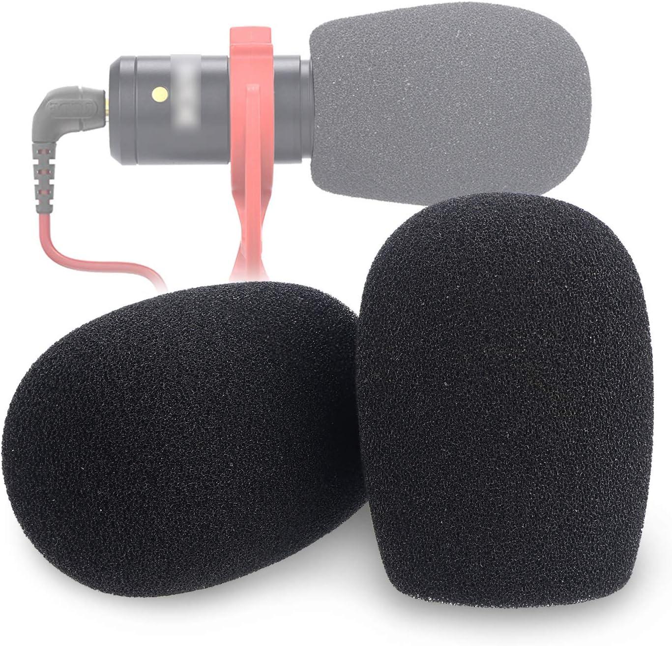 2 Pack Foam /& Furry Wind Muff for Rode VideoMicro and VideoMic Me Me-L Mic YOUSHARES VideoMicro Microphone Foam windscreen /& Deadcat Wind Shield