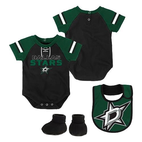 77a63d12d Outerstuff NHL Newborn & Infant Little D-Man Onesie, Bib & Bootie Set
