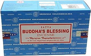 Satya Bangalore (BNG) Buddha's Blessings Incense Sticks 12 boxes x 15 g (180 grams total)