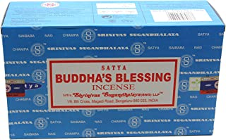 Satya Bangalore (BNG) Buddha's Blessings Incense Sticks 12 boxes x 15 g (180 grams total)