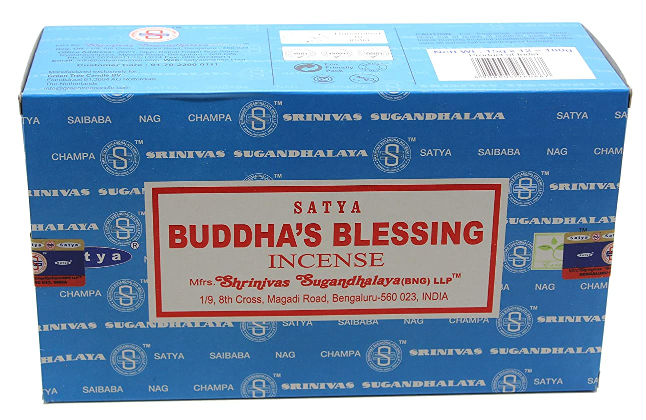 暴露理解するハロウィンSatyaバンガロール(BNG) Buddha 's Blessings Incense Sticks 12ボックスX合計15?g180グラム