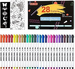 Pennarelli per Tessuti, 28 Colori Tessuto Pennarelli Permanente Pennarelli