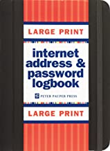Large Print Internet Address & Password Logbook (removable cover band for security)