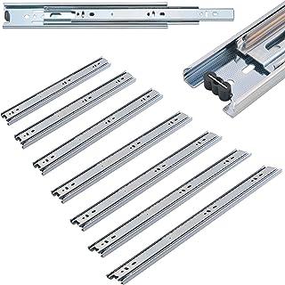 1x par de rieles para cajones - cajones lisos y precisos Extracciones de acero - extensión completa, diferentes tamaños (40-80 cm)