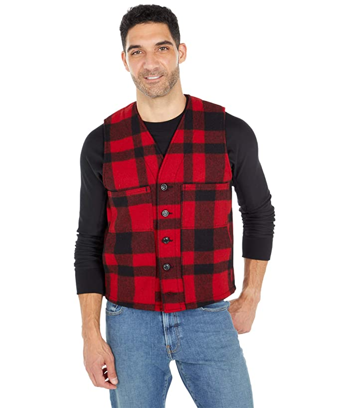 1930s Men's Fashion Guide- What Did Men Wear? Filson Mackinaw Wool Vest RedBlack Mens Vest $150.00 AT vintagedancer.com