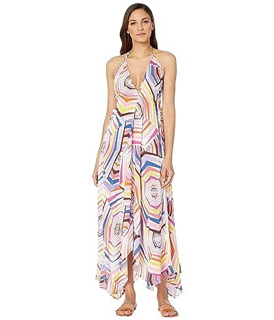 Kate Spade New York Halter Maxi Dress Cover-Up (White) Women