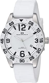 Oceanaut Women's Aqua One Stainless Steel Quartz Watch with Silicone Strap, White, 18 (Model: OC2811)
