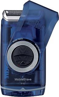 ماكينة الحلاقة الكهربائية للرجال من براون M60b بتصميم محمول، قابل للغسل، بلون أزرق