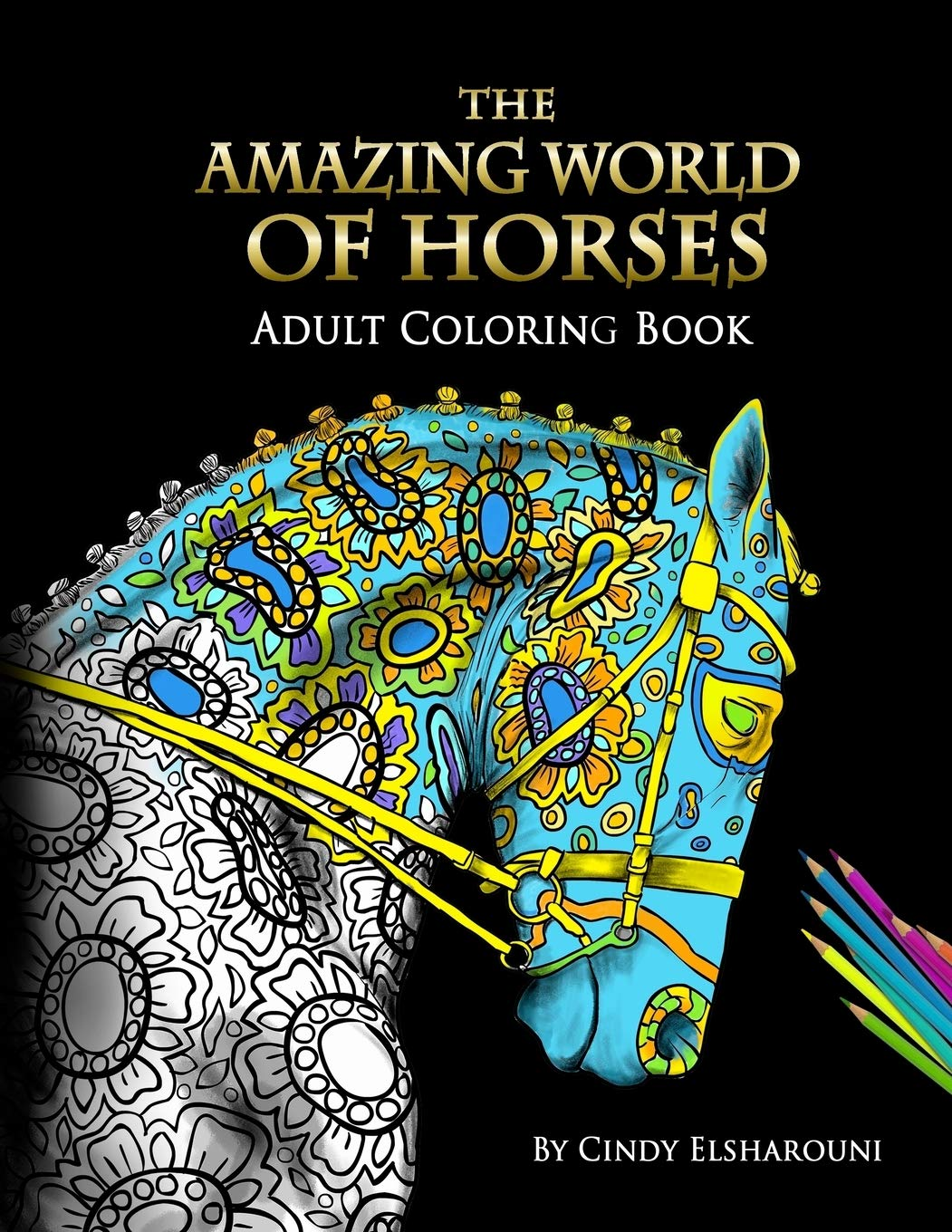 Image OfThe Amazing World Of Horses: Adult Coloring Book (Volume)