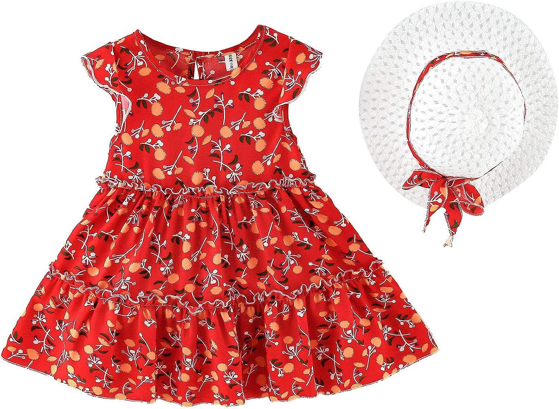 Toddler Baby Kids Limited time sale Girls Clothes Flutter Summer Dress Flor Sleeve Award