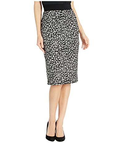 MICHAEL Michael Kors Animal Jacquard Pencil Skirt (Black/Bone) Women