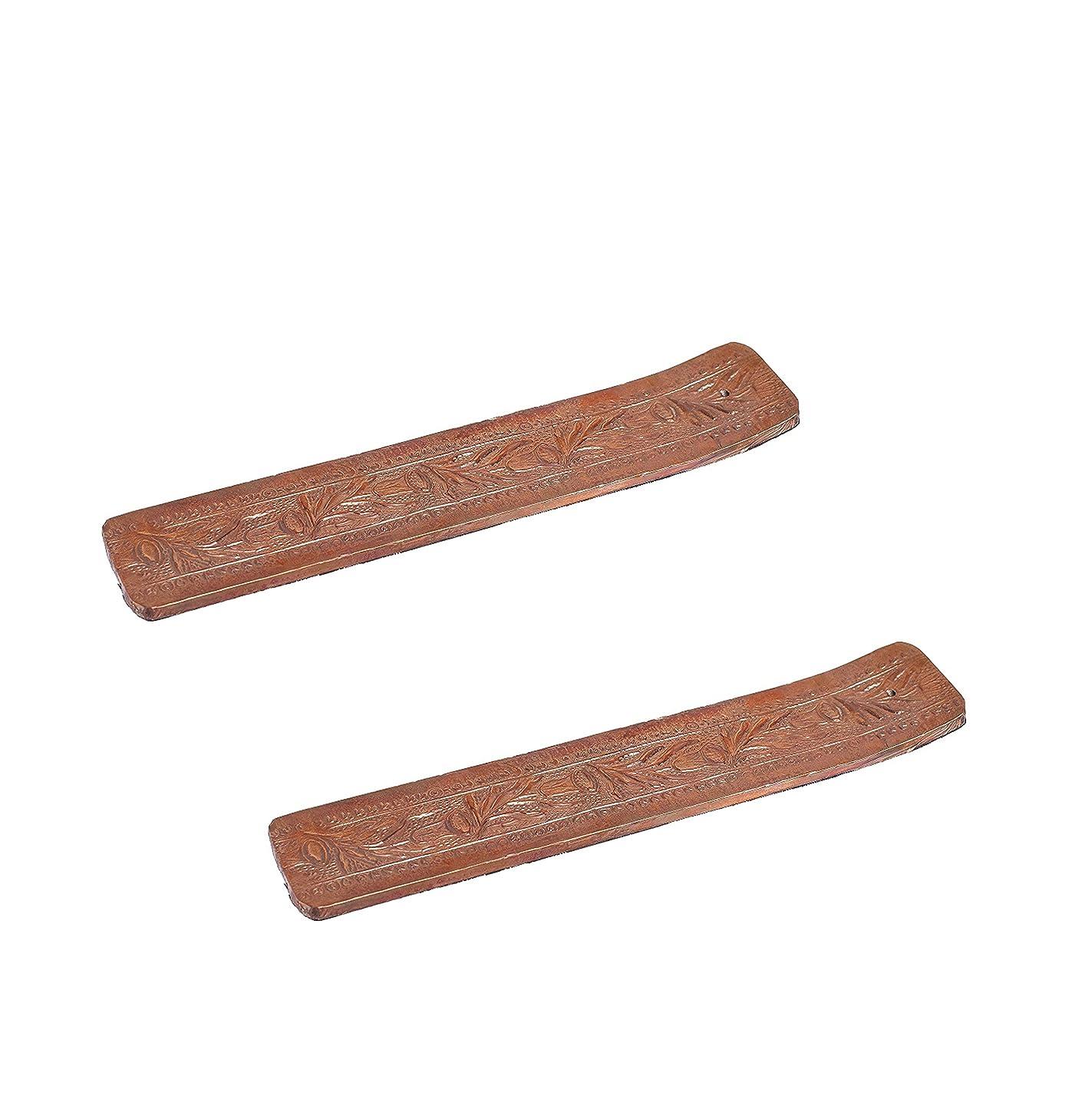 手荷物かんたん汚染されたHosley 2のセット、木製お香スティックholder- 10.50?