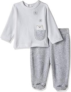 Babybol boys Baby'S 2 Pcs Set Baby and Toddler T-Shirt Set,Grey,12M