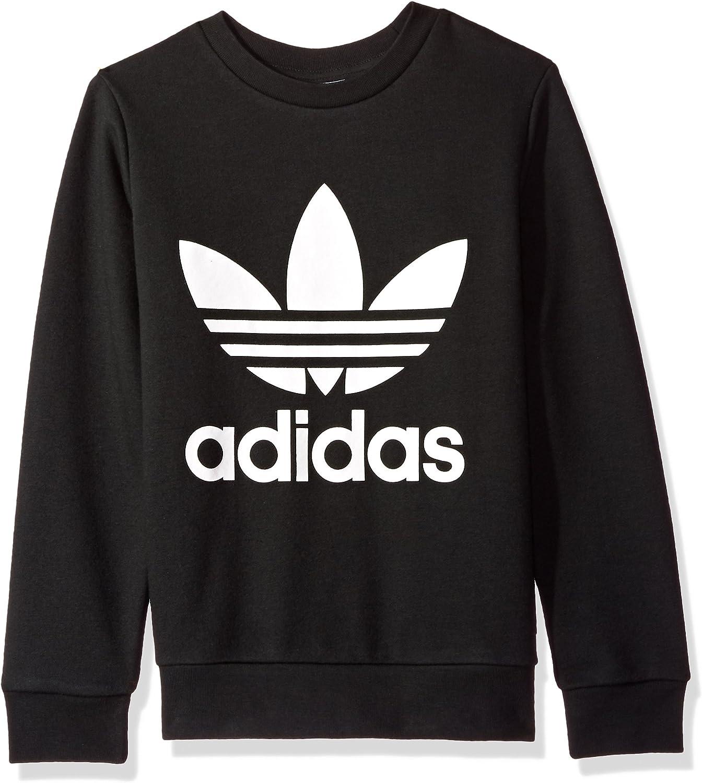 Amazon Com Adidas Originals Big Boys Originals Trefoil Crew Sweatshirt Clothing [ 1500 x 1344 Pixel ]