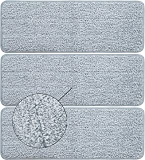 BOOMJOY Replacement Mop Pads, Microfiber Cleaning Pads for BOOMJOY Squeeze Flat Mop, Set of 3
