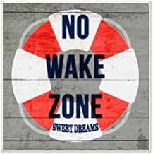 The Stupell Home Decor Collection No Wake Zone Life Raft Wall Plaque Art, 12 x 0.5 x 12, Proudly Made in USA