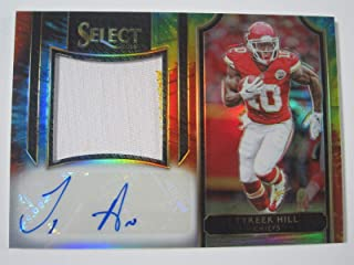 2016 Panini Select Tyreek Hill Tie Dye Rookie Autographed Patch Card #`d 22/25 - Panini Certified - Football Slabbed Autographed Rookie Cards