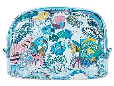 Vera Bradley Beach Cosmetic (Paisley Wave Fish) Wallet